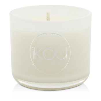 iKOU Eco-Luxury Aromacology Natural Wax Candle Glass - Zen (Green Tea & Cherry Blossom)  (2x2) inch