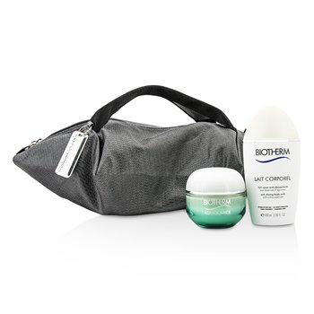 Biotherm Aquasource & Body Care X Mandarina Duck Coffret: Cream N/C 50ml + Anti-Drying Body Care 100ml + Handle Bag  2pcs+1bag