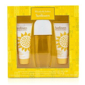 Elizabeth Arden Sunflowers Coffret: Eau De Toilette Spray 100ml/3.3oz + Body Lotion 100ml/3.3oz + Hydrating Cream Cleanser 100ml/3.3oz  3pcs
