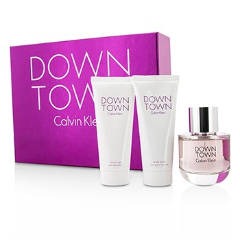 Downtown Coffret: Eau De Parfum Spray 90ml/3oz + Body Lotion 100ml/3.4oz + Shower Gel 100ml/3.4oz  3pcs