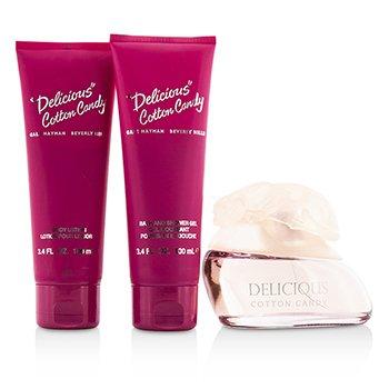 Delicious Cotton Candy Coffret: Eau De Toilette Spray 100ml/3.3oz + Body Lotion 100ml/3.4oz + Shower Gel 100ml/3.4oz  3pcs