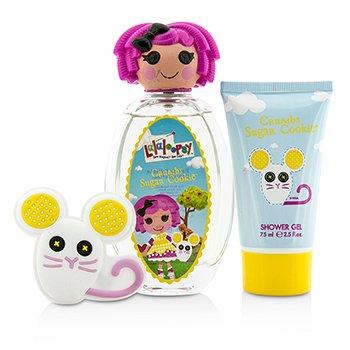 Crumbs Sugar Cookie Cute Coffret: Eau De Toilette Spray 100ml/3.4oz + Shower Gel 75ml/2.5oz + French Barrette  3pcs