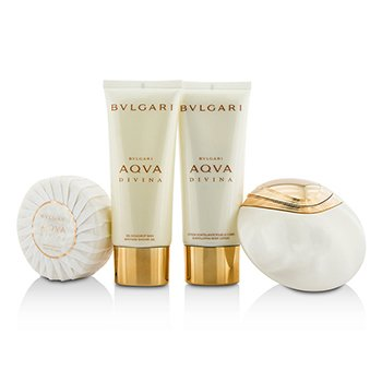 Aqva Divina Coffret: Eau De Toilette Spray 65ml/2.2oz + Body Lotion 100ml/3.4oz + Shower Gel 100ml/3.4oz + Soap 150g/5oz  4pcs