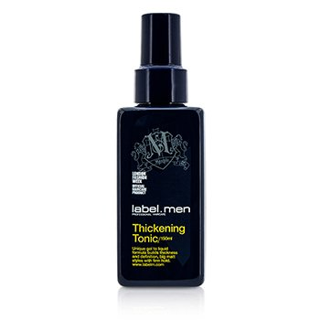 Label.M Men's Thickening Tonic (Unique Gel to Liquid Formula Builds Thickness and Definition For Big Matt Styles with Firm Hold)  150ml/5oz