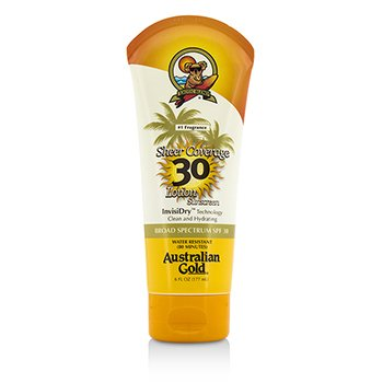 Australian Gold Sheer Coverage Lotion Sunscreen Broad Spectrum SPF 30  177ml/6oz