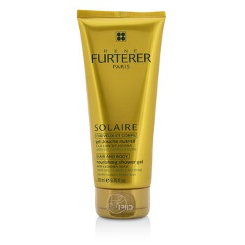 Rene Furterer Solaire Nourishing Shower Gel with Jojoba Wax (Hair and Body)  200ml/6.76oz