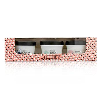 Cheeky From Rough To Buff Set: Shower Jelly 100g/3.53oz + Dry Body Buff 100g/3.53oz + Body Balm 100g/3.53oz  3pcs