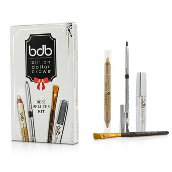 Best Sellers Kit: 1x Universal Brow Pencil 0.27g/0.009oz, 1x Brow Duo Pencil 2.98g/0.1oz, 1x Smudge Brush, 1x Brow Gel 3ml/0.1oz  4pcs