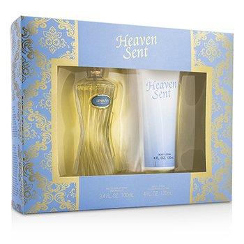 Heaven Sent Coffret: Eau De Parfum Spray 100ml/3.4oz + Body Lotion 120ml/4oz  2pcs