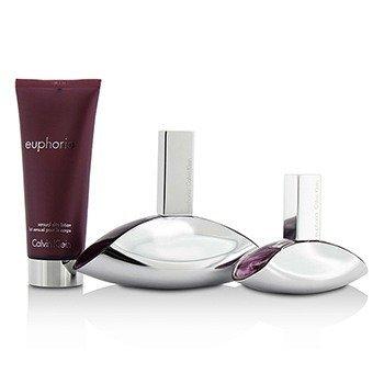 Euphoria Coffret: Eau De Parfum Spray 100ml/3.4oz + Eau De Parfum Spray 30ml/1oz + Sensual Skin Lotion 100ml/3.4oz  3pcs