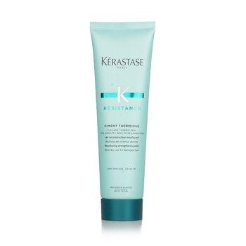 Kerastase Resistance Ciment Thermique Resurfacing Strengthening Milk Blow-Dry Care (For Damaged Hair)  150ml/5.1oz