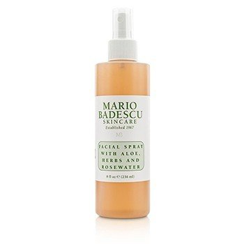 Facial Spray With Aloe, Herbs & Rosewater - For All Skin Types  236ml/8oz