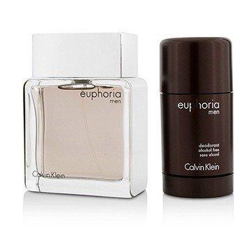Euphoria Coffret: Eau De Toilette Spray 100ml/3.4oz + Deodorant Stick 75g/2.6oz  2pcs