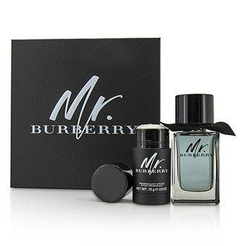 Burberry Mr. Burberry Coffret: Eau De Toilette Spray 100ml/3.3oz + Deodorant Stick 75g/2.5oz  2pcs
