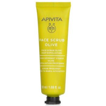 Apivita Face Scrub With Olive - Deep Exfoliating  50ml/1.82oz