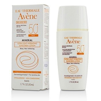 Avene Mineral Ultra-Light Hydrating Sunscreen Lotion SPF 50 For Face - For Sensitive Skin  50ml/1.7oz