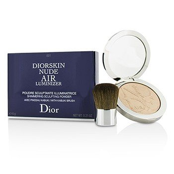 Christian Dior Diorskin Nude Air Luminizer Shimmering Sculpting Powder (With Kabuki Brush) - #001  6g/0.21oz