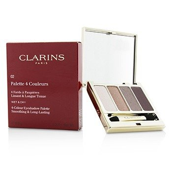 Clarins 4 Colour Eyeshadow Palette (Smoothing & Long Lasting) - #02 Rosewood  6.9g/0.2oz