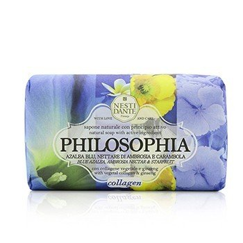 Nesti Dante Philosophia Natural Soap - Collagen - Blue Azalea, Ambrosia Nectar & Starfruit With Vegetal Collagen & Ginseng  250g/8.8oz