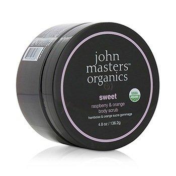 John Masters Organics Sweet Raspberry & Orange Body Scrub  136.2g/4.8oz