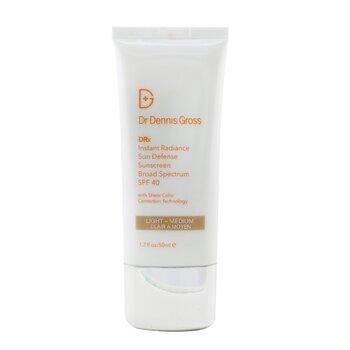 Dr Dennis Gross Instant Radiance Sun Defense Sunscreen SPF 40 - Light-Medium  50ml/1.7oz