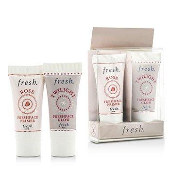 Fresh Prime & Glow Set Duo Pack : 1x Mini Rose Freshface Primer, 1x Mini Twilight Freshface Glow  2 Sets