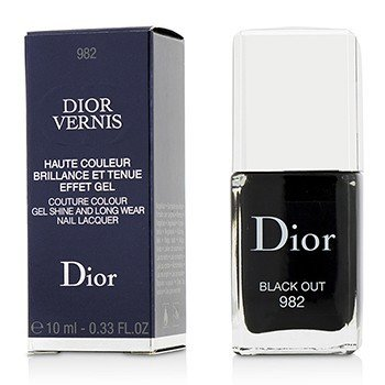 Christian Dior Dior Vernis Couture Colour Gel Shine & Long Wear Nail Lacquer - # 982 Black Out  10ml/0.33oz