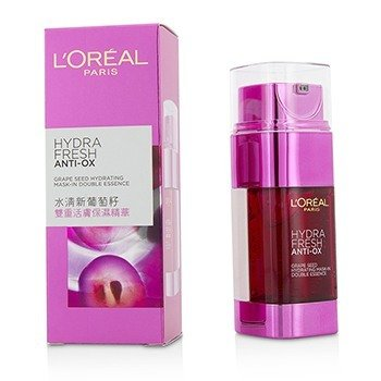 L'Oreal Hydrafresh Anti-Ox Grape Seed Hydrating Mask-In Double Essence  2x25ml/1.7oz