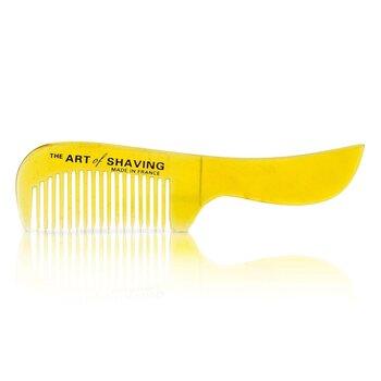 The Art Of Shaving Horn Mustache Comb - Black Suedine  1pc