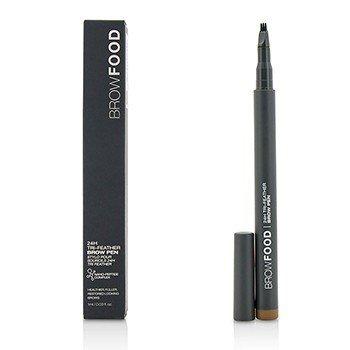 LashFood BrowFood 24H Tri Feather Brow Pen - Brunette  1ml/0.03oz