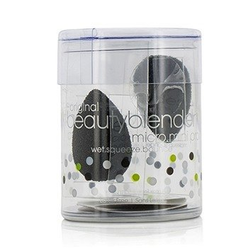 BeautyBlender BeautyBlender Micro Mini Set (2x Mini BeautyBlender) - Pro (Black)  2pcs