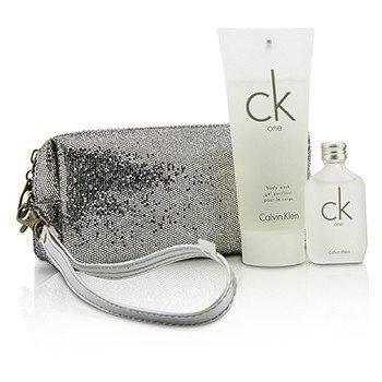 Calvin Klein CK One Coffret: Eau De Toilette 15ml/0.5oz + Body Wash 100ml/3.4oz + Bag  2pcs+bag
