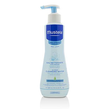 Mustela No Rinse Cleansing Water (Face & Diaper Area) - For Normal Skin  300ml/10.14oz