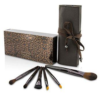 Laura Mercier Brush It On Luxe Brush Collection (6x Brush, 1x Case)  6pcs+1case