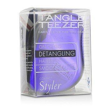 Tangle Teezer Compact Styler On-The-Go Detangling Hair Brush - # Purple Dazzle  1pc