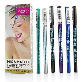 Bourjois Mix & Match 6 Contour Clubbing Waterproof Eye Pencil Set  6pcs