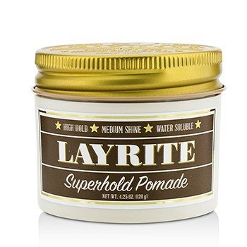 Layrite Superhold Pomade (High Hold, Medium Shine, Water Soluble)  120g/4.25oz