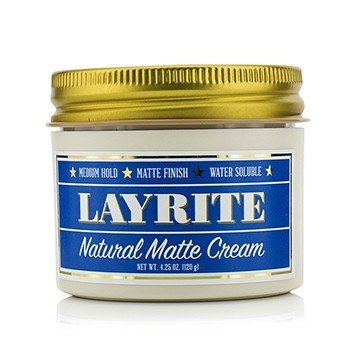 Layrite Natural Matte Cream (Medium Hold, Matte Finish, Water Soluble)  120g/4.25oz