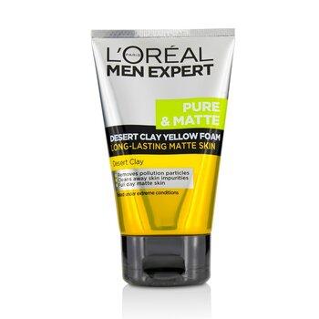 L'Oreal Men Expert Pure & Matte Desert Clay Yellow Foam  100ml/3.3oz
