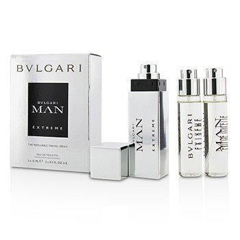 Bvlgari Man Extreme The Refillable Eau De Toilette Travel Spray  3x15ml/0.5oz