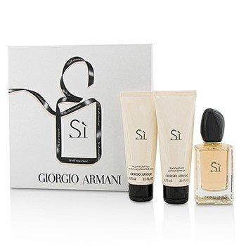 Giorgio Armani Si Coffret: Eau De Parfum Spray 50ml/1.7oz + Body Lotion 75ml/2.5oz + Shower Gel 75ml/2.5oz  3pcs