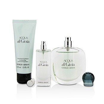 Acqua Di Gioia Coffret: Eau De Parfum Spray 50ml/1.7oz + Eau De Parfum Spray 15ml/0.5oz + Body Lotion 75ml/2.5oz  3pcs