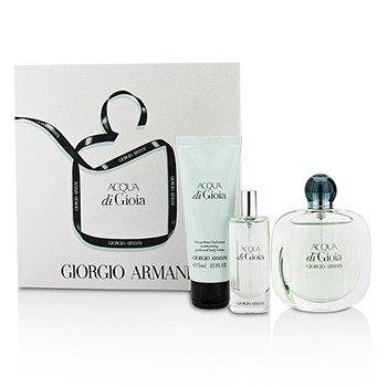 Giorgio Armani Acqua Di Gioia Coffret: Eau De Parfum Spray 50ml/1.7oz + Eau De Parfum Spray 15ml/0.5oz + Body Lotion 75ml/2.5oz  3pcs