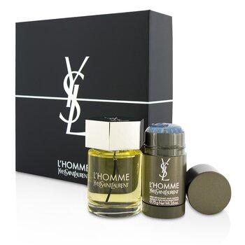 L'Homme Coffret: Eau De Toilette Spray 100ml/3.3oz + Deodorant Stick 75g/2.6oz  2pcs