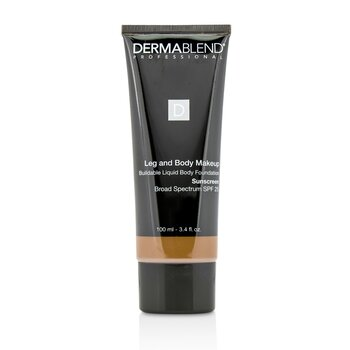 Dermablend Leg and Body Make Up Buildable Liquid Body Foundation Sunscreen Broad Spectrum SPF 25 - #Deep Natural 85N  100ml/3.4oz