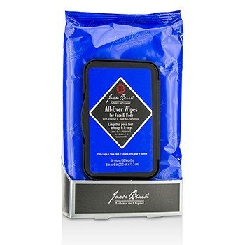 Jack Black All Over Wipes for Face, Hair & Body  30 wipes