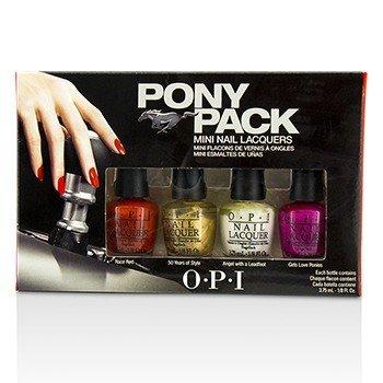 O.P.I Pony Pack Mini Nail Lacquers  4pcs