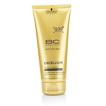 Schwarzkopf BC Excellium Q10+ Omega 3 Taming Shampoo (For Coarse Mature Hair)  200ml/6.8oz