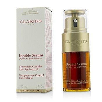Clarins Double Serum (Hydric + Lipidic System) Complete Age Control Concentrate (Box Slightly Damaged)  30ml/1oz