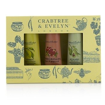 Crabtree & Evelyn Botanicals Hand Therapy Set (1x Citron, Honey & Coriander, 1x Pomegranate, Argan & Grapeseed, 1x Avocado, Olive & Basil)  3x25g/0.9oz